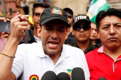 Luis Fernando Camacho durante una protesta contra Evo Morales en La Paz (REUTERS/Carlos Garcia Rawlins)