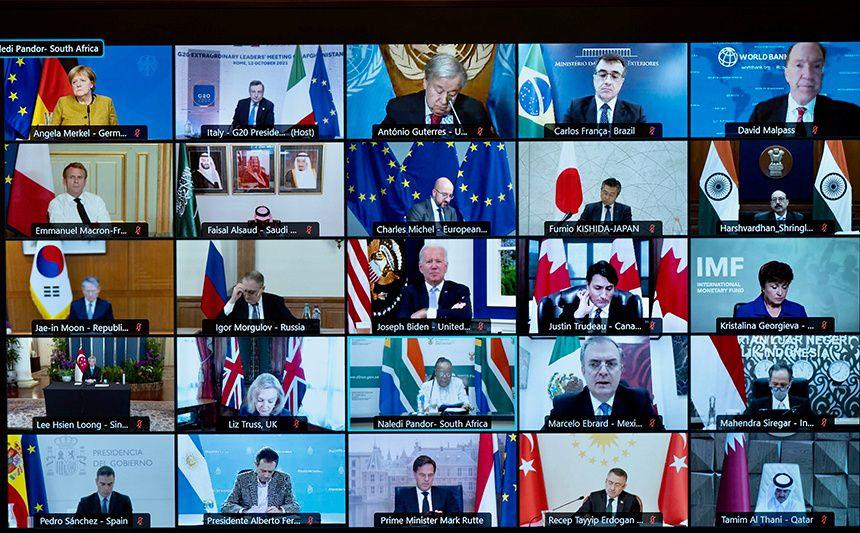 Los dirigentes del G20 reafirmaron su promesa de aportar ayuda humanitaria a Kabul (Foto: REUTERS)