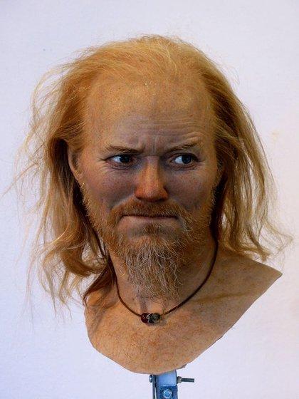 Reconstrucción de un vikingo de Sigtuna, Suecia. Gracias a que contaba con ADN, Nilsson pudo ser muy preciso en su retrato, y asegurar que tenía ojos azules, tez blanca y cabello color rubio rojizo