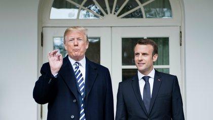 Emmanuel Macron, presidente de Francia, no logró convencer a Trump de cambiar de decisión