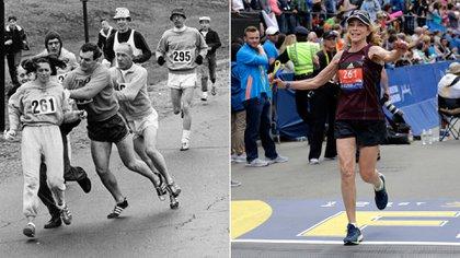 50 años después de aquella hazaña, Kathrine volvió acorrer en la mítica maratón