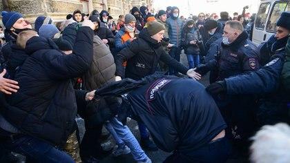 Los incidentes en Vladivostok (Pavel KOROLYOV / AFP)
