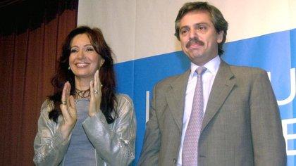 Cristina Kirchner y Alberto Fernández, durante la presidencia de Néstor Kirchner