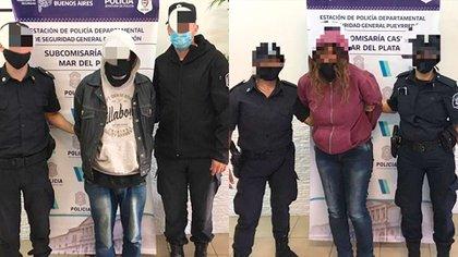 La mujer y el hombre, de 47 y 52 años, fueron trasladados a la cárcel de Batán y el Destacamento Femenino