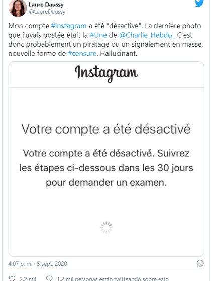 El posteo de una periodista de Charlie Hebdo censurado en Instagram