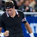 February 19, 2019: Juan Martin del Potro, of Argentina, reacts to a break in his match against Yoshihito Nishioka, of Japan, during the first round of the 2019 Delray Beach Open ATP professional tennis tournament, played at the Delray Beach Stadium & Tennis Center in Delray Beach, Florida, USA. Mario Houben/(Photo by Mario Houben/CSM/Sipa USA)
