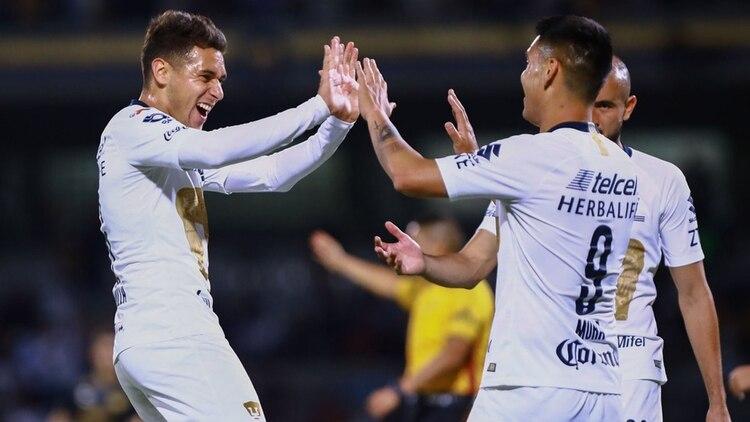 Los Pumas de la UNAM golearon por 3 a 0 a Dorados de Sinaloa y avanzaron a las semifinales de la Copa MX (@CopaMx)