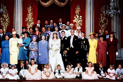La boda del príncipe Andrés y Sarah Ferguson, Londres, Gran Bretaña, el23 de julio de 1986