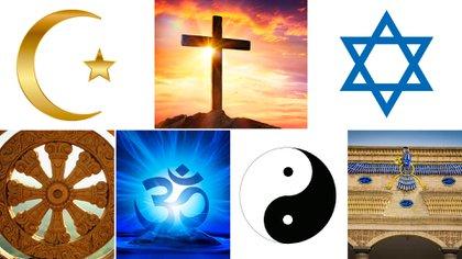 Los símbolos religiosos de las principales creencias