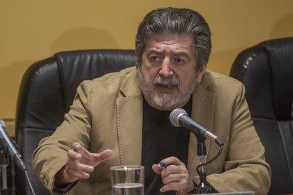 Milardy Douglas Rogelio Jiménez Pons Gómez, director general de Fonatur, durante la conferencia de prensa donde anuncio que se alista licitación (Foto: Isaac Esquivel / Cuartoscuro)