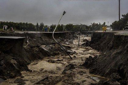 Comodoro Rivadavia sufrió la furia de las lluvias: pérdidas económicas siderales y cientos de evacuados (Florencia Downes/Télam)