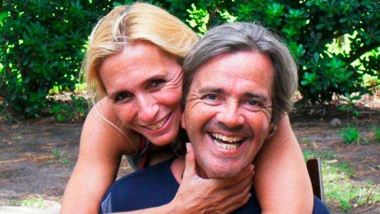 Opatowski y su pareja, Jimena Adúriz, la madre de Ángeles.