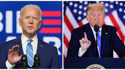 Joe Biden y Donald Trump (REUTERS/Kevin Lamarque/Carlos Barria)
