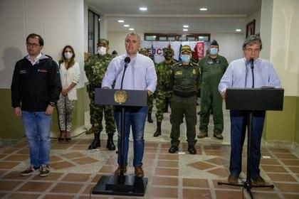 Anuncio del presidente Duque desde Quibdó. REUTERS