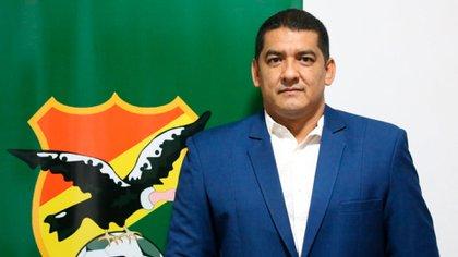 Marcos Rodríguez, presidente de la Federación Boliviana de Fútbol (Foto: FBF)
