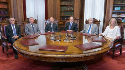 Los jueces de la Suprema Corte de Buenos Aires