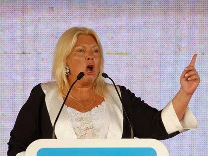 La líder de la Coalición Civica, Elisa Carrió (NA)