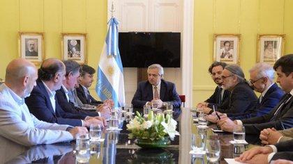 A un año de la única reunión entre el presidente Alberto Fernández y la Mesa de Enlace (Foto: Presidencia)