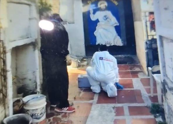 Imágenes de la exhumación del bebé de Dana Manjarrés. Foto: Cortesía de la familia.