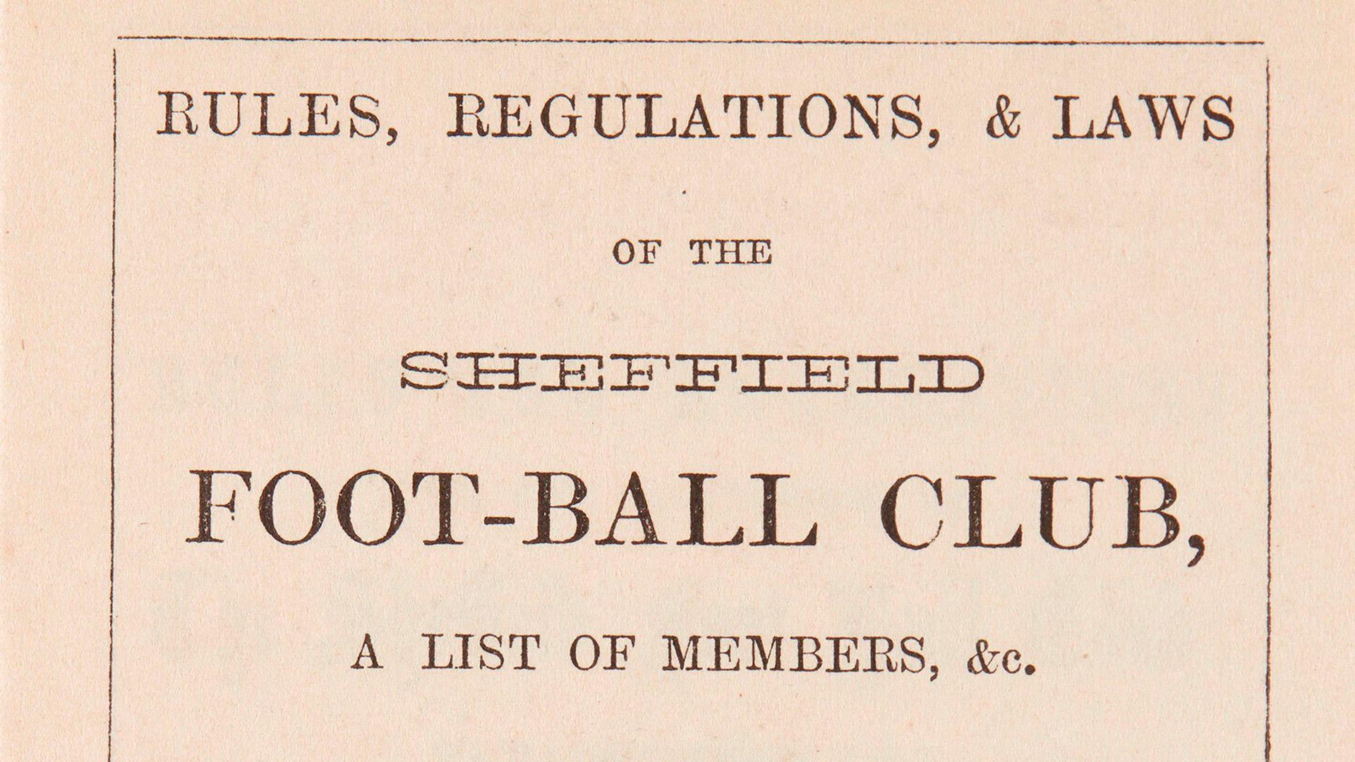 Primer reglamento de fútbol