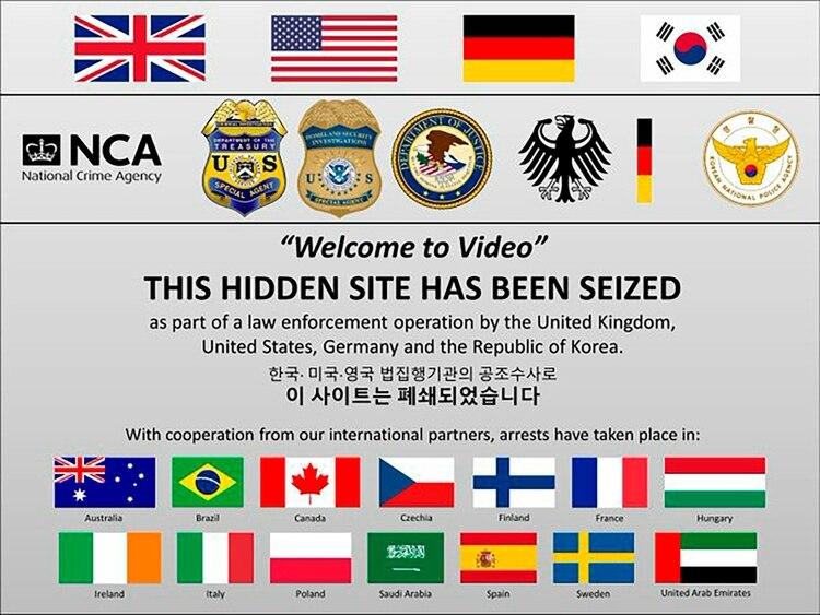 El Departamento de Justicia de EEUU divulgó esta imagen para celebrar el operativo en diversos países