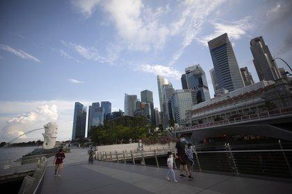 Zona empresarial de Singapur (EFE/EPA/HOW HWEE YOUNG/Archivo)