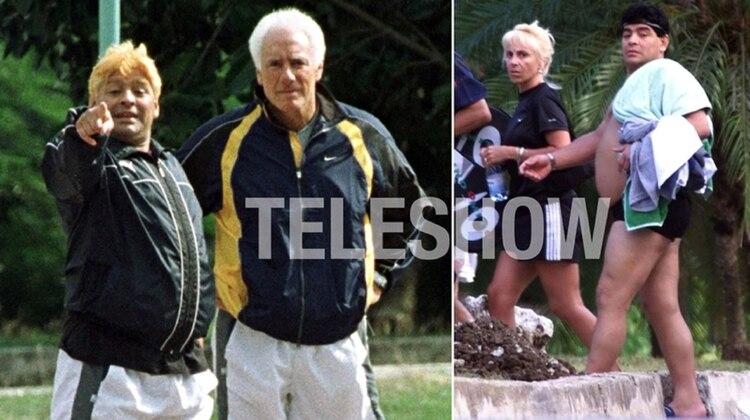 Guillermo Coppola y Claudia Villafañe acompañaron a Diego durante la rehabilitación que hizo en Cuba