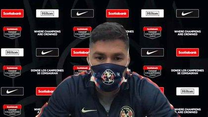 Bruno Valdez en conferencia de prensa previo al América vs Olimpia de la Concacaf Liga de Campeones (Foto: Concacaf)