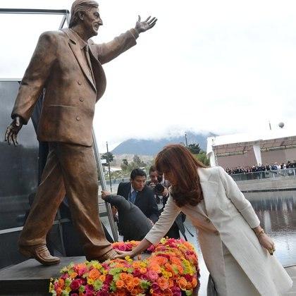 La estatua llegó al país en los primeros días de agosto (Presidencia)