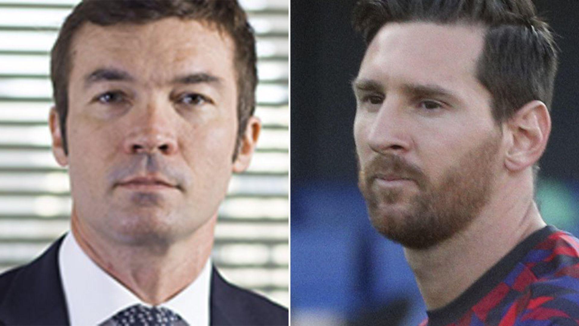 Lionel Messi con Jorge Pecourt