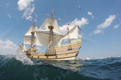 El Mayflower viajó sobrecargado, con 102 pasajeros y 30 tripulantes (REUTERS/Brian Snyder)