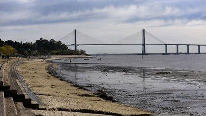Tramo del rio Paraná cercano a la zona del hallazgo.