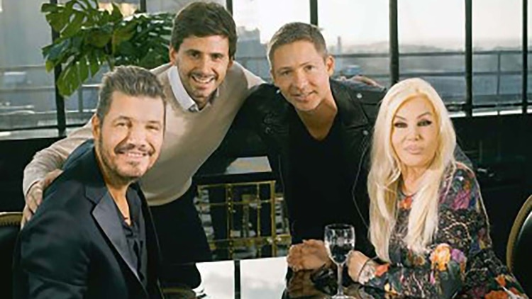 Momento histórico de la TV cuando Marcelo Tinelli y Susana Gimenez grabaron un spot juntos para ambos canales