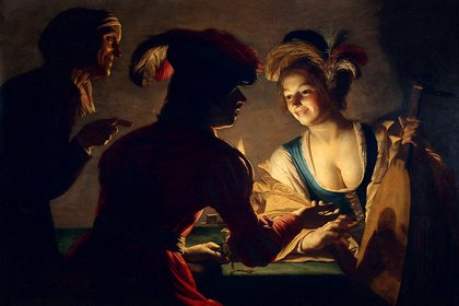 """""""La alcahueta"""", de Gerard van Honthorst, en el Centraal Museum de Utrecht, en los Países Bajos"""