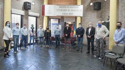 Los intendentes de la zona oeste del Gran Buenos Aires junto a las autoridades del Departamento Judicial de Morón