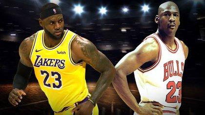 LeBron James versus Michael Jordan (Infobae)
