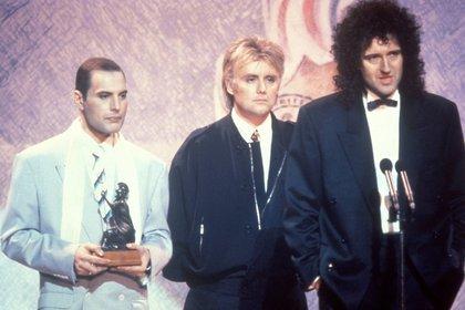 """La última aparición en público fue el 18 de febrero de 1990 en los Brit Awards. Solo dijo: """"Gracias. Buenas noches"""" (John Rodgers/Redferns)"""