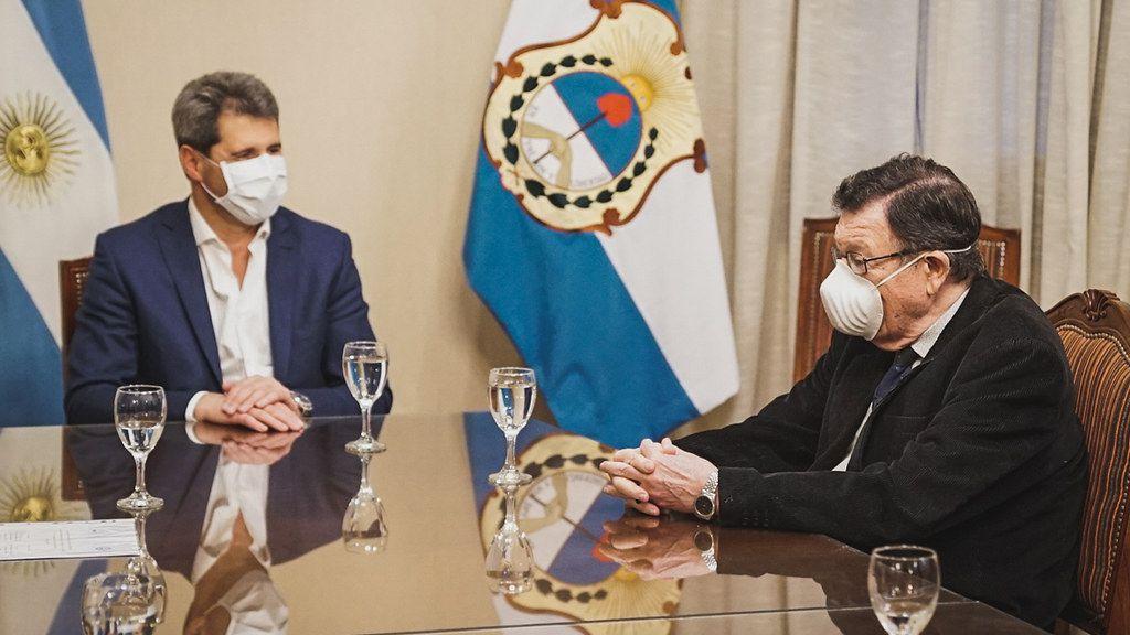 Sergio Uñac y rector Oscar Nasisi San Juan