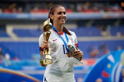 Alex Morgan se consagró campeón con la selección de Estados Unidos en el Mundial de Francia 2019 (Shutterstock)