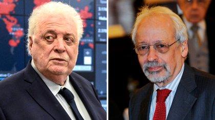 El exministro de Salud, Ginés Gonzáles García, y Horacio Verbitsky, dos de los protagonistas del escándalo de las vacunas
