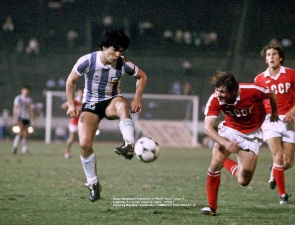 Hugo Alves, Diego Maradona y Ramón Díaz marcaron para los Albicelestes, mientras que Igor Ponomarev anotó para los soviéticos