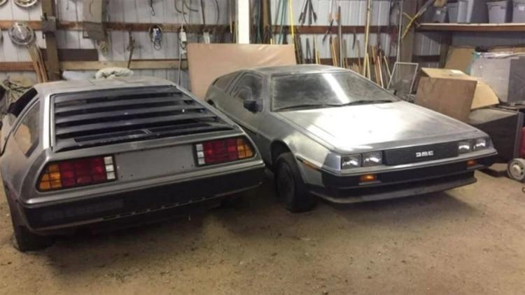 Así aparecieron los dos DeLorean en California: se los ve en buen estado general.