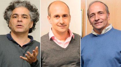 Los científicos argentinos Esteban Roulet, Fernando Stefani y Diego García Lambas