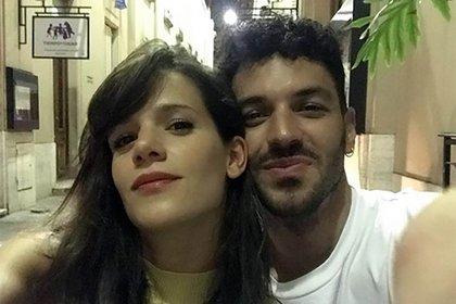 Violeta Urtizberea y su pareja