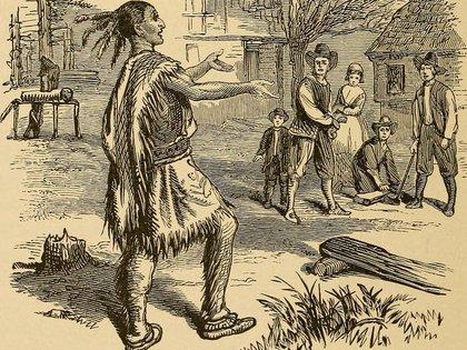 El encuentro entre blancos e indígenas marcó 7 meses de una paz que duraría 50 años. (Library of Congress)