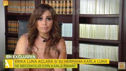 Erika Luna confirmó que sí hubo tres reencuentros entre su hermana y Karla Panini