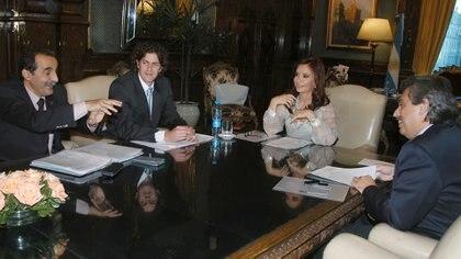El exsecretario de Comercio de Cristina Kirchner junto al entonces jefe de Gabinete, Alberto Fernández