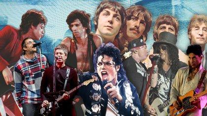 Los grandes del pop y del rock tuvieron peleas que incluyeron golpes, cuchillazos, drogas e insultos