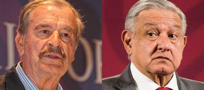 Expresidente del PAN, Vicente Fox y actual presidente ejecutivo, Moreno López Obrador (Foto: Kurtoscuro)