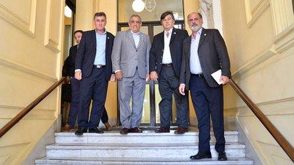Los dirigentes de la Mesa de Enlace opinaron sobre la propuesta de productores de cerrar las cuentas en el Banco Credicoop (Gustavo Gavotti)